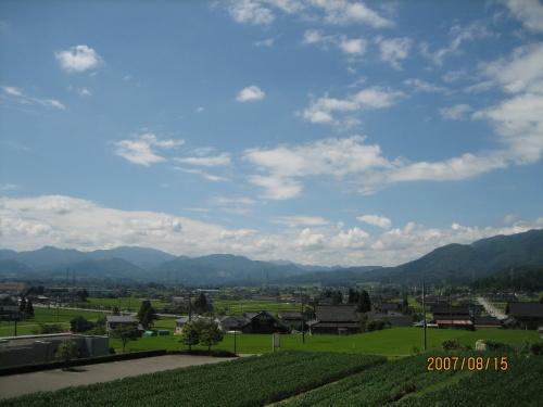 砺波平野の景色に深呼吸・・・
