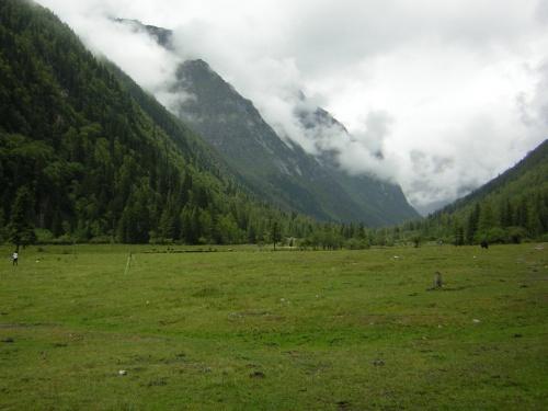 """チベット文化圏のカム東部(=四川省西部)をめぐってきました。<br /><br />成都から、四姑娘山〜丹巴〜塔公〜道孚〜甘孜〜理塘〜康定〜成都と、総日程12日間でぐる〜っと周ってきました。(当初は、四姑娘山〜稲城・亜丁へ行くつもりでしたが、亜丁が封鎖されたため、甘孜方面に変更。)<br /><br />この地域の交通網は、路線バスか乗合軽四ワゴン車。延べ1,800km強の山岳ドライブ旅行って感じでした。殆どが3000mを超える高原地帯で、川沿いの道も多く、道中の景色はどこもなかなか素晴らしいく、山・川の眺めを楽しめました。<br />  3000mを超える町や村、道中では4000,4500m級の峠を何回も越えて行きます。始めの3〜4日は高山病で少し悩まされますが、次第に順応していきました。交通網はまずまずで移動には困らなかった。<br /><br />この地域はチベット王国の領土だけあって、中国とは一味も二味も違う""""チベット文化""""を町々、村々で見ることができました。<br /><br />【1〜3日目】<br />1日目:関空から北京経由で成都に到着。<br />2日目:成都からバスで日隆鎮へ。夕方だったが四姑娘山の双橋溝観光へ。だが雨が降り出してきて散々でした。<br />3日目:本命の四姑娘山・長坪溝終日観光!も・・・ほぼ終日雨でまったく""""山""""が見えず!!  あぁ〜何て運の無いことか。。。<br />*4日目は快晴だったので余計に心残り・・・・・。<br />-------------------------------------------------<br />日程<br />D1 8/8 関空1040-北京1240(CA162)、北京1630-成都1900(CA4108)<br />D2 8/9 成都0630-日隆1540(BUS)【四姑娘山:双橋溝1600〜1930】<br />D3 8/10 【四姑娘山:長坪溝0820〜1840】<br />D4 8/11 日隆07450-小金0900(軽四)、小金1000-丹巴1130(軽四)<br />   --  【丹巴:甲居蔵寨、丹底美人谷、梭坡】<br />D5 8/12 丹巴0700-八美0920(軽四)、八美0940-塔公1030(軽四)<br />   --  【塔公寺、塔公草原、木雅金塔】<br />   --  八美1330-道孚1540(軽四)【道孚:霊雀寺、民居、マニ塚、白塔】<br />D6 8/13 【道孚:農貿市場】道孚1445ー甘孜1940(BUS)<br />D7 8/14 【甘孜ゴンパ】 <br />D8 8/15 甘孜0900-新龍1200(軽四)、新龍1400-君覇1610(軽四)、<br />   --  君覇1640-理塘1930(軽四)<br />D9 8/16 【理塘:市場、理塘ゴンパ、白塔公園、理塘大草原】 <br />D10 8/17 理塘0630-康定1545(BUS)【康定:町内散策】<br />D11 8/18 康定0700-成都1310(BUS)【成都:文珠坊、他】<br />D12 8/19 成都1125-北京1345(CA1402)、北京1620-関空2000(CA161)"""