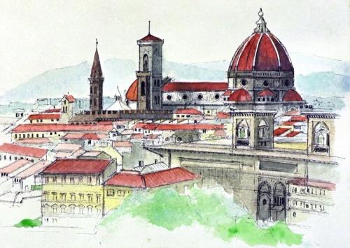 土・日曜日に訪れた、アッシジ、シエナ、フィレンツェ。