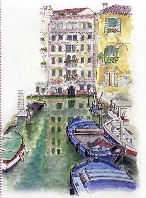 ペルージア日程終了後に、あこがれのヴェネツィアを訪問し、ローマを経由して帰国。<br /><br />初めてのヴェネツィアではホテルをどのようにして探せばよいかが分からず苦労した。<br />インフォメーションで訊いたところ、ホテルは殆ど満員で<br />地図を手渡されて結局は自分の足で探すしかなかったが、とても不安だった。<br /><br />幸いにもサン・マルコ広場から一筋入った東側に小綺麗な三ツ星ホテルを見つけることが出来て助かった。<br />それからヴェネツィアに来る時にはホテルの予約が必要だと思った。<br /><br />宿泊料は一泊7,000円だった。2泊して次の日には予約が入っているからと追い出されたが<br />その間に他の宿を見つけて移動。<br /><br />次回5年ぐらい後に訪れた時には、この同ホテル宿泊料は約2倍になっていた。<br /><br />          *<br /><br />ローマではフィオーリ広場やナボーナ広場近く下町にホテルをとり、庶民の街を楽しんでから帰国する。