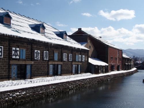 小樽運河は冬景色。。。
