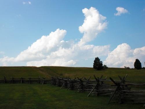 Manassas National Battlefield Park(マナサス国立戦場跡公園)は、南北戦争時代に戦いが2回行われた、いわゆる古戦場です。しかもその1回の第1次マナサスの戦いは、南北戦争最初の本格的な戦いとも言われている場所とのこと。天下分け目の関ヶ原という感じではないのかもしれませんが、当時はこの第1次マナサスの戦いを勝った方が、アメリカを収めるだろうと言われるほどの戦いだったそうです。(実際はこれからも市民戦争は続きました)<br /> いってみたところさすが古戦場。広い。この言葉に尽きるような気がします。お土産にマナサスまんじゅうとか売っているといいのですが、そんな気が利いたお土産はアメリカにはありませんでした。<br />