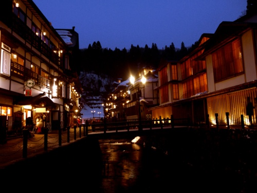 雪景色の南とうほく3泊4日の旅 ~4の1~ 大正ロマンの湯の街 雪の銀山温泉