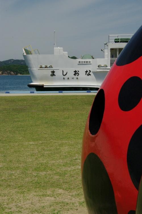 アートと癒しを探しに~直島2010①赤かぼちゃ、銭湯、地中美術館、ミュージアム棟泊