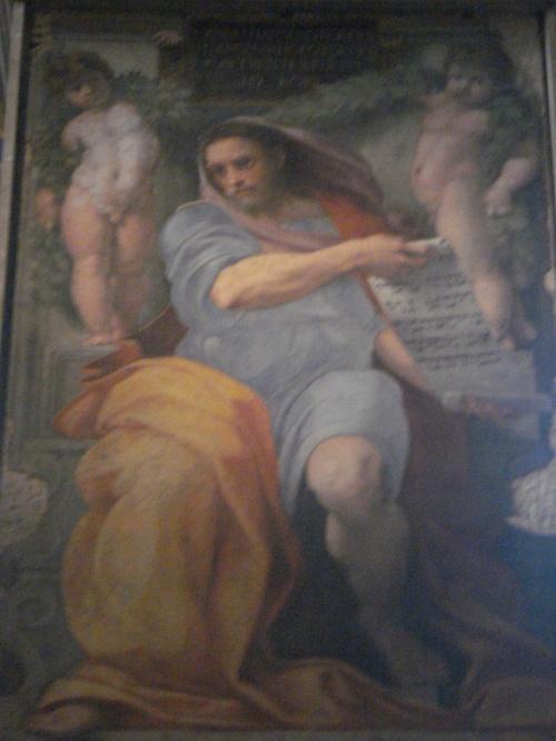 今回ローマで、教会を周ろうと思い立ったのは、ラファエロの画集を見ていて、サンタ・アゴスティーノ教会のラファエロ『預言者イザヤ』をまだ見てないと気づいたからです。