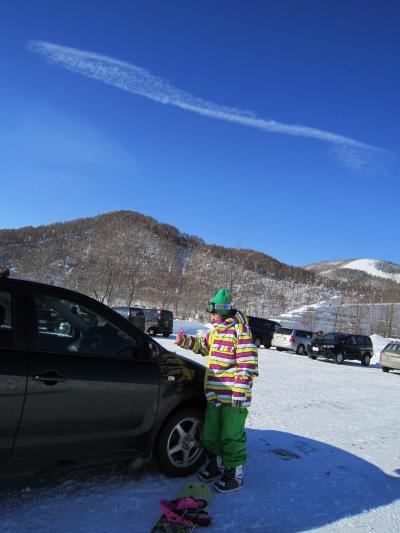 夕張マウントレースイスキー場でバリバリ★スノーボード