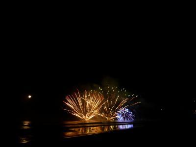 夏の伊豆白浜! 海を眺めて優雅に過ごす♪ Vol3(第1日目:夜) 白浜海岸花火大会!美しい海上スターマインに酔いしれる♪
