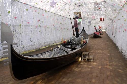 02.時之栖1泊旅行 光のトンネルのゴンドラ ロッジ・ヴィラ管理棟
