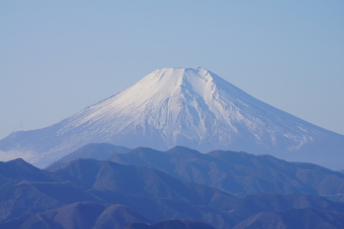 陣馬山から見た富士山