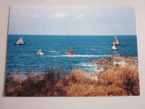 ナホトカ号重油流出 : 三国の海へ油の拭き取り ボランティア