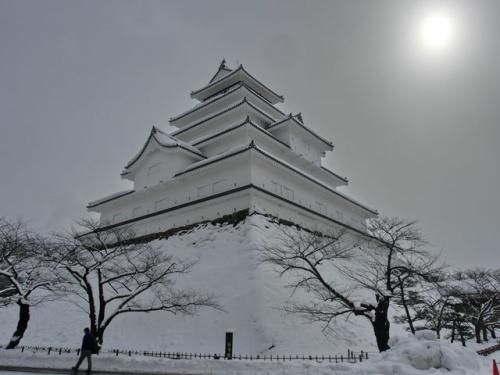 会津の旅[昼の鶴ヶ城編](2012年冬)
