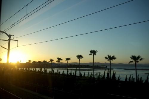 【国内87】岐阜羽島出張とんぼがえり1-夕暮れの新幹線,サンホテル岐阜羽島