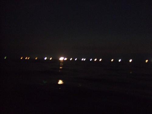 夏の日本海、夕暮れ&漁火&白イカ釣り