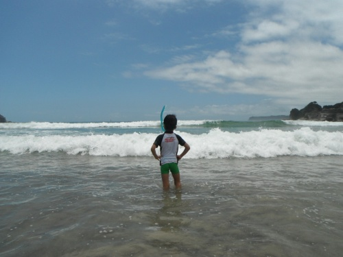 【鵜原海岸】男二人で海水浴