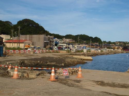震災後 北茨城の海は 大津港 野口雨情生家付近をすこし