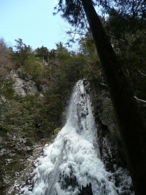 氷瀑を見に ①  御船の滝