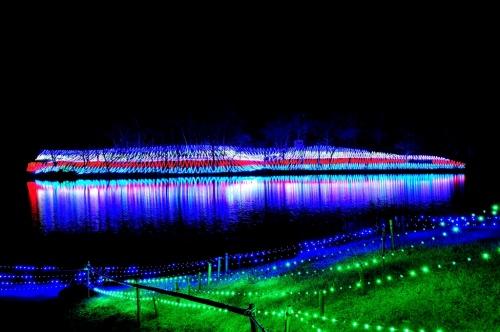 光ファンタジアin長湯湖
