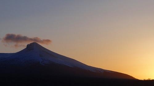 松前・江差・函館 桜旅情 3日間(28) 夕日の鹿部ロイヤル屋上からの景観