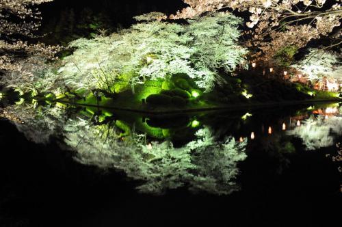 桜前線を追いかけて【1】~米沢城址で夜桜見物~