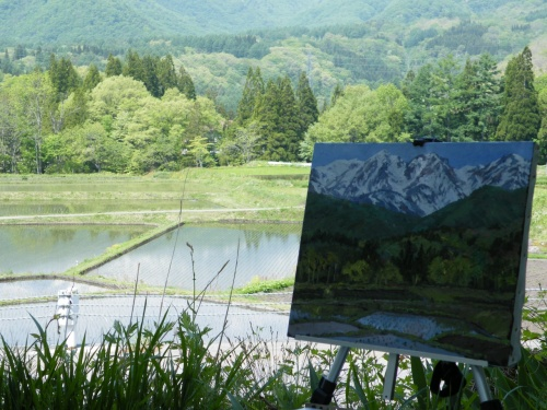 2013 春のスケッチ(2) 白馬栂池