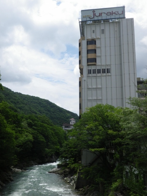 水上ホテル聚楽と水上駅から諏訪峡
