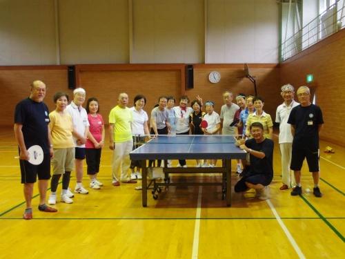 クラブの仲間と安比高原で 卓球合宿