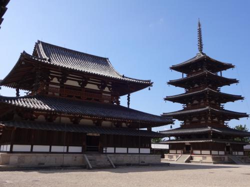 法隆寺・中宮寺を母と歩く☆美しい弥勒菩薩さまと、百済観音さまに魅せられる(^o^)/
