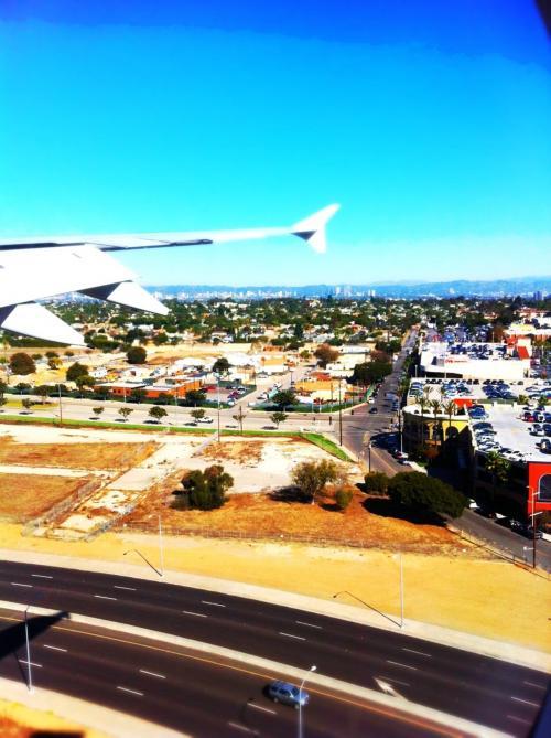 日本から12時間かけてロサンゼルスに到着!<br />