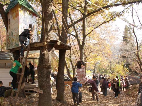 耶馬溪の秋~紅葉とバルンバルンの森