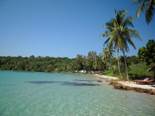 1年振りの海外旅行、どこに行こうか迷いましたが、またビーチに行きたいという事でどこに行こうか迷いましたが、結局タイに。タイでもきれいな海と言えば昨年行った、ンガイ島か、友人が最近行ったリペ島か、うーん、迷った挙句人が少なさそうなクッド島へ。<br />表記はクート島、クード島等色々な表記がありますが、タイ人の発音を聞いた限りではクッド(ドは発音しない感じ)が近いようで、ここではクッド島にします。<br />また往復羽田発着の深夜便を利用したため、実質12/5〜12/11が旅行期間となります。<br /><br />12/5仕事終了後自宅に戻り、その後羽田空港へ。<br />12/6 0:30発 NH173にてバンコクへ、5:30 BKK着(定刻6:00着)<br />   9:40発(定刻8:30発) PG301にてトラートへ、10:30頃着(定刻9:30着)<br />   トラート空港から乗合バンにてレム・ソック港へ行った後12:30発のkoh kood expressにてクッド島へ。<br />   14:00頃にクッド島に到着して、船のフリーソンテウでresortに。<br />12/7、12/8は終日クッド島滞在。<br />12/9 9:30頃に船のピックアップソンテウで港に行き、10:00発のkoh kood expressでレム・ソックへ。<br />   11時30過ぎににレム・ソックに到着。その後、フリーのソンテウで、トラート市内へ。<br />   13時発のバスでバンコクへ。19時頃にバンコク着<br />12/10 22:40発のNH174で羽田へ<br />12/11 5:20頃羽田着<br /><br />行程は以上ですが、旅行開始直前に発生した、反政府デモ。旅行自体が危ぶまれましたが、<br />ほとんど反政府デモの影響を受けることもなく、楽しい旅行ができました。<br />