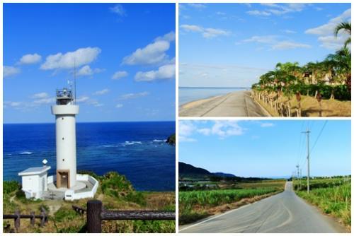 ここは異国? 1 石垣の青い空と海