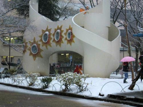 東京に雪降り始めて 北区 赤羽公園