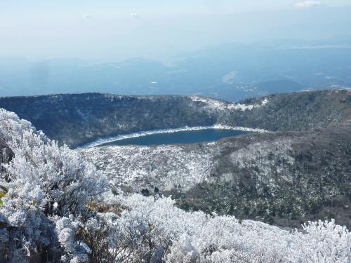 早春の九州登山&観光 2日目樹氷きらめく韓国岳に登る♪