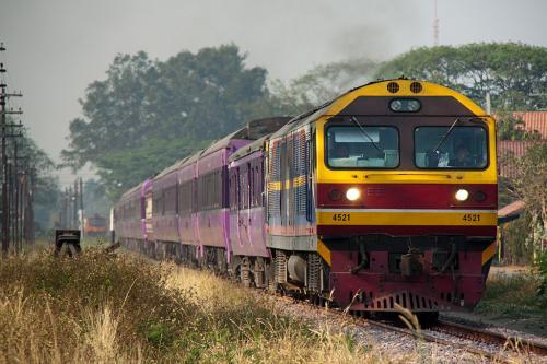 JRのブルートレインで活躍していた14系・24系がタイ国鉄に譲渡され現地で現役で走っています。その列車に一度は乗ってみたいと思っていましたが、ようやく実現しました。<br /><br />現在活躍しているのはバンコク・チェンマイ間で、チェンマイには温泉もあると言うのです。<br /><br />さらにタイへ行くなら、最近TVでも取り上げられて有名になったメークロン線のメークローン市場にも行かないとダメでしょうと言うことで、殆ど乗り物目的の旅がスタートしました。