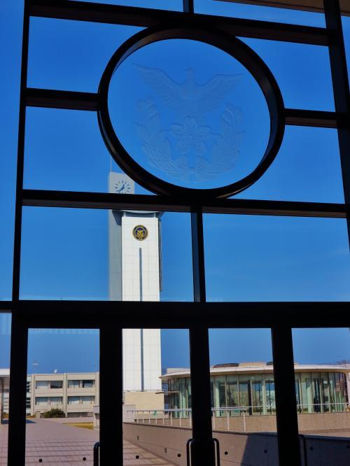 横須賀-4 防衛大学校 見学ツアーで ☆(小原台)記念講堂や展示館、売店も