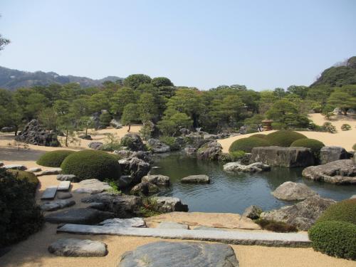 足立美術館と宍道湖の夕日(鳥取・島根の旅その2)
