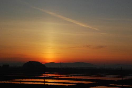 函館の夜景だけでなく、北斗星から朝焼けまで見られるなんて最高!