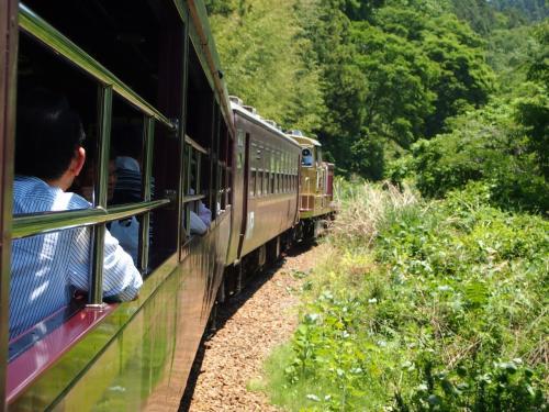 風が心地いい~(*^。^*) わたらせ渓谷鐡道のトロッコ列車と足尾銅山