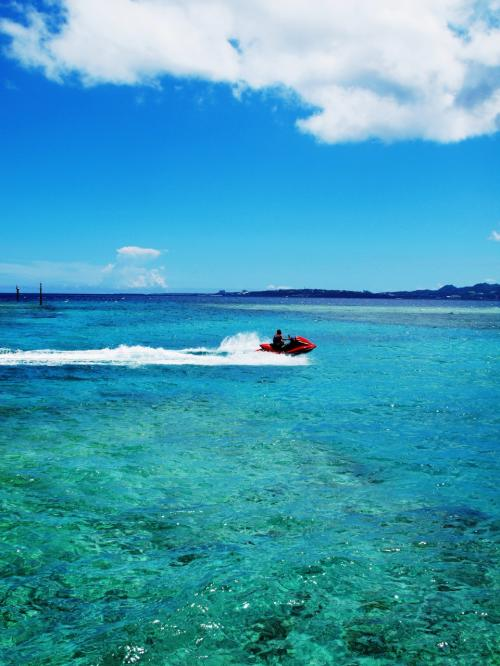 沖縄/美ら海でアオチャ~ジ♪@カーサドゥマイビーチホテルオキナワ(2014年7月)