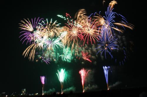 臨時快速列車「海中スターマイン」で行く、ぎおん柏崎 海の大花火大会 2014