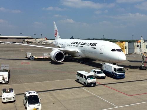 成田発パリ行きJL415便は、ボーイング787でした。そう言えば最近、787に関するトラブルはあまり聞かなくなりましたが、だいぶ安定して運行できるようになったんでしょうねえ。いずれにせよ、ヨーロッパ便にも787が使われているとは知りませんでした。<br /><br />