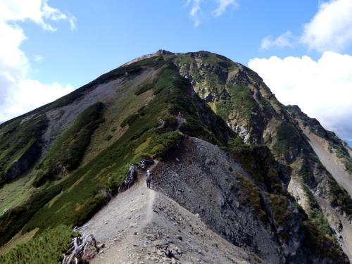 塩見岳 蝙蝠岳への稜線歩きが ...