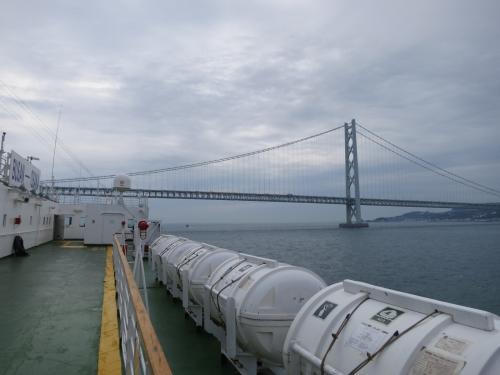 今年3月に釜山港から対馬・比田勝港への高速船を利用しましたが、今度は同じ対馬の厳原港から釜山に行く高速船を利用しました。<br />釜山ではとりあえず1泊。夜着、翌日昼に乗船手続きという短い滞在で、釜山港発大阪港行きのパンスターフェリーで帰国しました。<br />その2は、釜山港発・大阪港行きのフェリー「パンスタードリーム号」1泊2日の乗船記です。<br /><br />◆行程---------------------------------------------<br />9/21(日)<br /> 【フェリー】九州郵船 博多港 0:10→4:40 厳原港 ※下船は7:00<br />  ★対馬島内観光<br />  ■ホテル金石館 泊<br />9/22(月)<br />  ★対馬島内観光<br /> 【高速船】未来高速コビー 厳原港 16:15→18:10 釜山港<br />  ■東横イン釜山駅2 泊<br />9/23(火・祝)<br /> 【フェリー】パンスター 釜山港 15:10→(翌日着) <br />9/24(水)<br /> 【フェリー】パンスター →10:00 大阪港 <br /><br />◆費用---------------------------------------------<br />【フェリー】<br /> 九州郵船 博多港−厳原港間<br />  2等指定 5,740円/人<br /> 未来高速コビー JR九州船舶から電話予約<br />  8,500円+TAX諸費1,700円=10,200円/人<br /> パンスターライン<br />  スタンダードB 140,000KRW(約15,000円)<br />  燃油及び施設利用料 25,200KRW(約2,700円)<br />       <br />【ホテル】<br /> ホテル金石館 電話直接予約<br />  1泊ツイン1室 12,528円<br /> 東横イン釜山駅2<br />  1泊ダブル1室 62,700KRW(約6,700円)<br /><br />---------------------------------------------------<br />2014国際航路に乗るだけの旅(その1・対馬厳原港発コビー編)<br />http://4travel.jp/travelogue/10935783<br /><br />2014国際航路に乗るだけの旅(その2・大阪港着パンスター編)<br />http://4travel.jp/travelogue/10935787