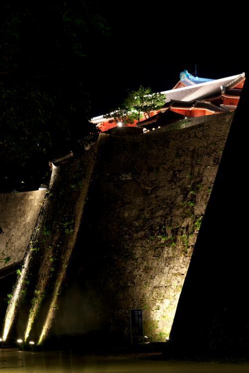 ボクの沖縄・・・自由気ままな一人旅(2/5) ライトアップされた首里城がメチャきれいだった!