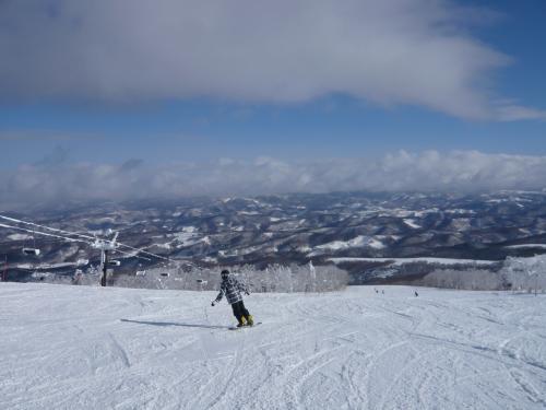 やっと晴れた!スノーボード