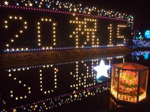 あしかがフラワーパークのイルミネーションも<br />あと2週間で終わりというくらいの日、今シーズン最後の夜の<br />フラワーパークに行って来ました。<br /><br />1番盛り上がる?クリスマスシーズンのイルミネーションだけは<br />行きそびれちゃいましたが、年明けのイルミネーションは<br />忘れず見る事出来ました^m^<br /><br />前回は光と花のコラボレーションの時期最初の方に行ったので、<br />同じものもありますが、ちょっと違った施工の物もあって楽しめました。