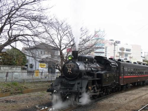 真岡鉄道のSLに乗って
