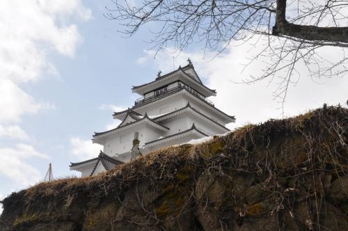 雪の会津へ  若松城と大内宿