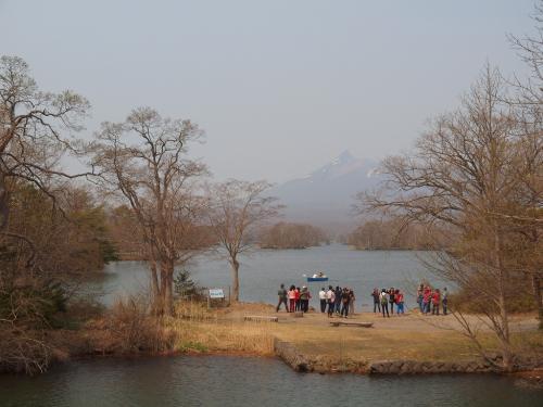 北海道ドライブ旅NO.3<お花見しながら森名物のいかめしを食べよう ここは日本??の大沼散策と大沼ビール>