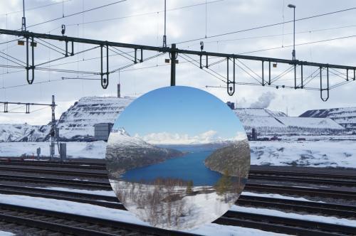 スウェーデン9日目の5月2日(土)は、最初に、10:53ナルヴィーク(Narvik)〜13:40キルナ(Kiruna)、13:54キルナ(Kiruna)〜17:39ボーデン(Boden)、17:48ボーデン(Boden)〜18:16ルーレオ(Luleå)の鉄道に乗り、ルーレオへ行きます。<br /> キルナは、昨日、4時間の滞在期間中、ずっと雪が降りましたが、今日は一変して、良い天気でした。